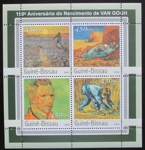 Poštovní známky Guinea-Bissau 2003 Umìní, Vincent van Gogh Mi# 2097-2100 Kat 7.50€