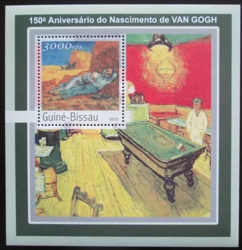 Poštovní známka Guinea-Bissau 2003 Umìní, Vincent van Gogh Mi# Block 390 Kat 12€