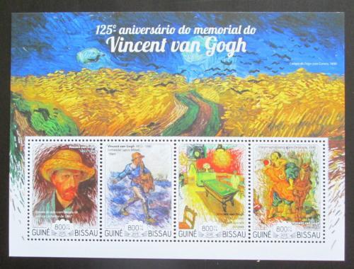 Poštovní známky Guinea-Bissau 2015 Umìní, Vincent van Gogh Mi# 7634-37 Kat 13€
