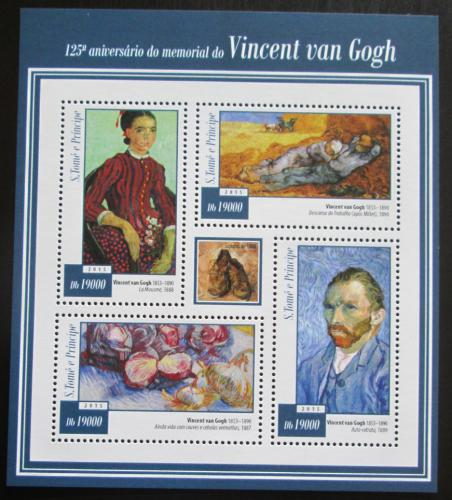 Poštovní známky Svatý Tomáš 2015 Umìní, Vincent van Gogh Mi# 6005-08 Kat 7.50€