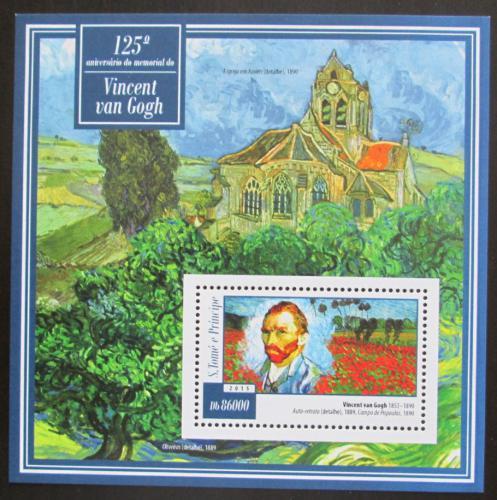 Poštovní známka Svatý Tomáš 2015 Umìní, Vincent van Gogh Mi# Block 1056 Kat 8.50€