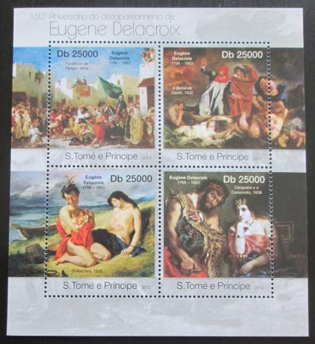 Poštovní známky Svatý Tomáš 2013 Umìní, Eugene Delacroix Mi# 4981-84 Kat 10€