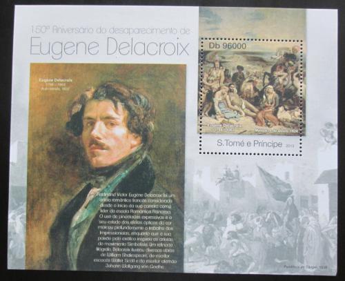 Poštovní známka Svatý Tomáš 2013 Umìní, Eugene Delacroix Mi# Block 856 Kat 10€
