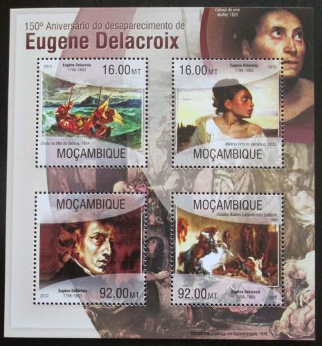 Poštovní známky Mosambik 2013 Umìní, Eugene Delacroix Mi# 6727-30 Kat 13€