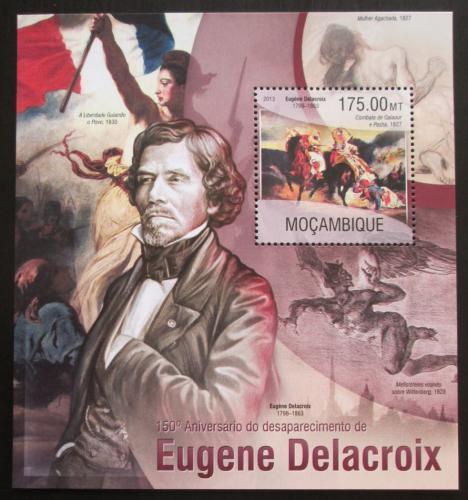 Poštovní známka Mosambik 2013 Umìní, Eugene Delacroix Mi# Block 785 Kat 10€