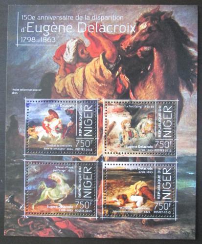 Poštovní známky Niger 2013 Umìní, Eugene Delacroix Mi# 2610-13 Kat 12€
