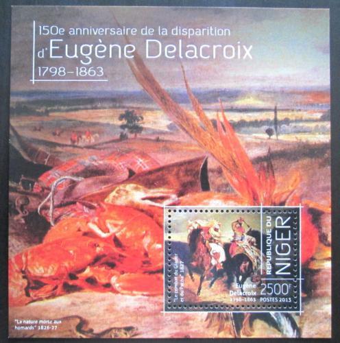 Poštovní známka Niger 2013 Umìní, Eugene Delacroix Mi# Block 263 Kat 10€