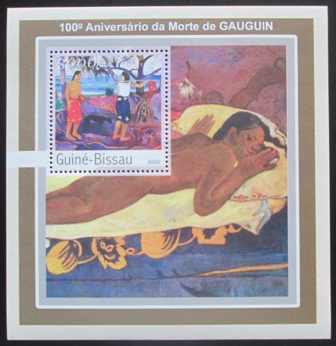 Poštovní známka Guinea-Bissau 2003 Umìní, Paul Gauguin Mi# Block 391 Kat 12€