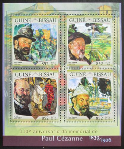 Poštovní známky Guinea-Bissau 2016 Umìní, Paul Cézanne Mi# 8644-47 Kat 12.50€