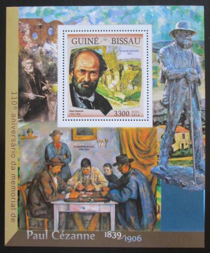 Poštovní známka Guinea-Bissau 2016 Umìní, Paul Cézanne Mi# Block 1498 Kat 12.50€