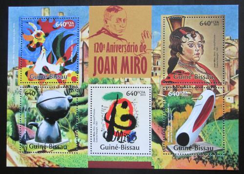 Poštovní známky Guinea-Bissau 2013 Umìní, Joan Miró Mi# 6742-46 Kat 13€