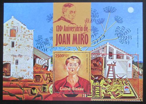 Poštovní známka Guinea-Bissau 2013 Umìní, Joan Miró Mi# Block 1183 Kat 10€