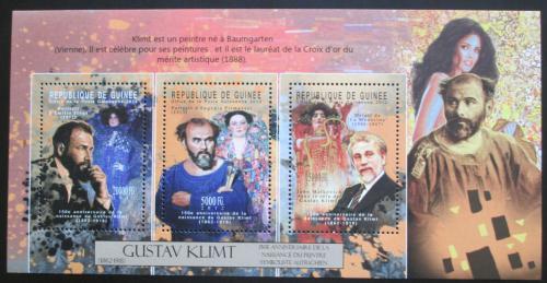 Poštovní známky Guinea 2012 Umìní, Gustav Klimt Mi# 9328-30 Kat 16€