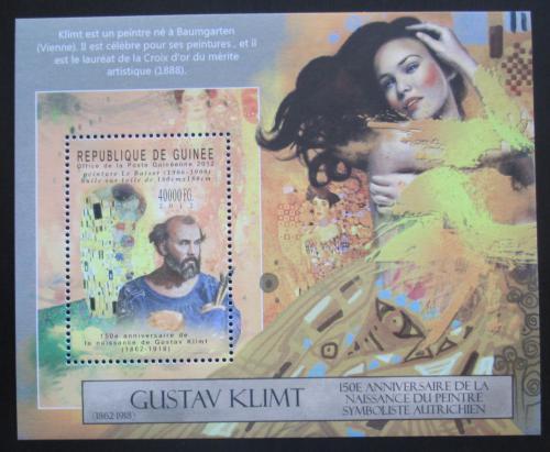 Poštovní známka Guinea 2012 Umìní, Gustav Klimt Mi# Block 2121 Kat 16€