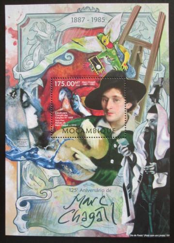Poštovní známka Mosambik 2013 Umìní, Marc Chagall Mi# Block 727 Kat 10€