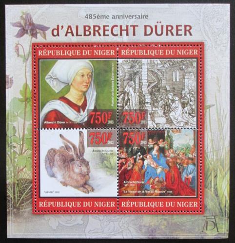 Poštovní známky Niger 2013 Umìní, Albrecht Dürer Mi# 2187-90 Kat 12€