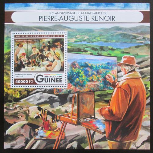 Poštovní známka Guinea 2016 Umìní, Pierre-Auguste Renoir Mi# Block 2692 Kat 16€