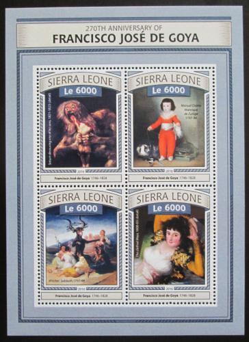 Poštovní známky Sierra Leone 2016 Umìní, Francisco de Goya Mi# 7723-26 Kat 11€