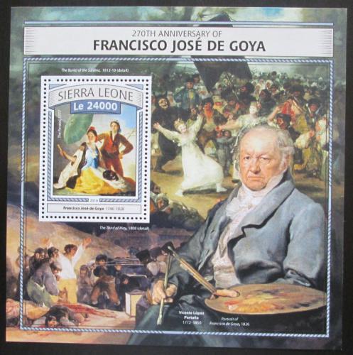 Poštovní známka Sierra Leone 2016 Umìní, Francisco de Goya Mi# Block 1077 Kat 11€