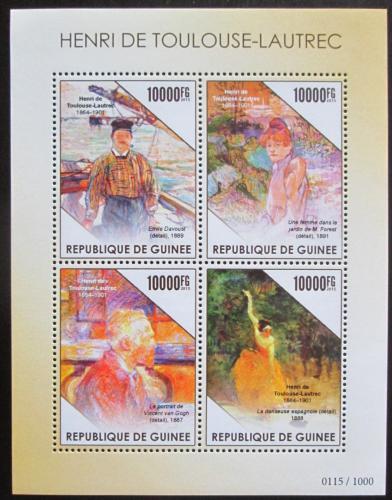 Poštovní známky Guinea 2015 Umìní, Henri de Toulouse-Lautrec Mi# 11318-21 Kat 16€