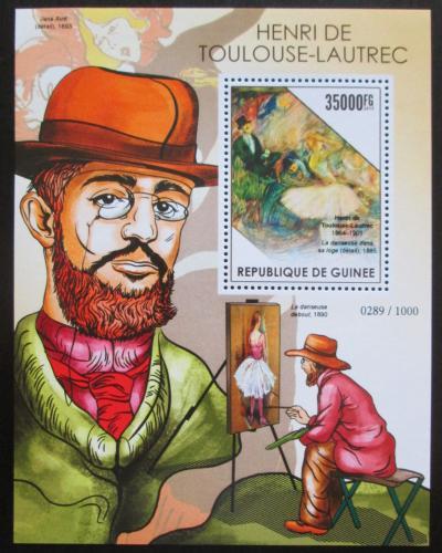 Poštovní známka Guinea 2015 Umìní, Henri de Toulouse-Lautrec Mi# Block 2560 Kat 14€