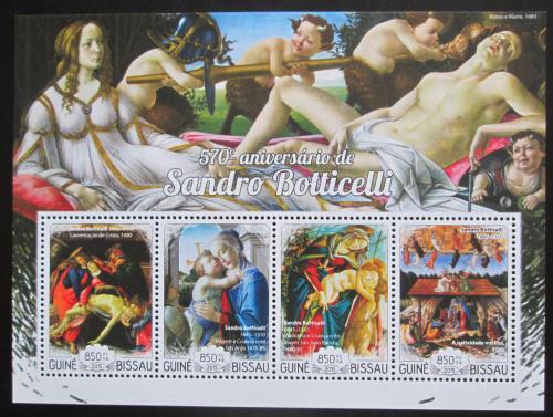 Poštovní známky Guinea-Bissau 2015 Umìní, Sandro Botticelli Mi# 7616-19 Kat 14€
