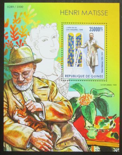 Poštovní známka Guinea 2015 Umìní, Henri Matisse Mi# Block 2561 Kat 14€
