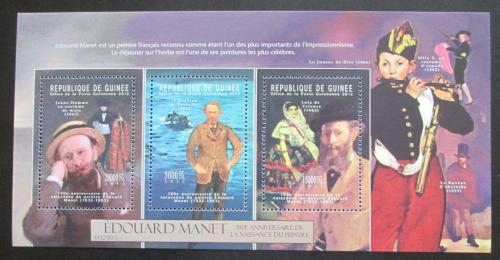 Poštovní známky Guinea 2012 Umìní, Édouard Manet Mi# 9324-26 Kat 16€
