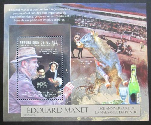 Poštovní známka Guinea 2012 Umìní, Édouard Manet Mi# Block 2120 Kat 16€