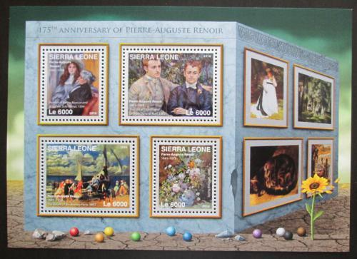 Poštovní známky Sierra Leone 2016 Umìní, Renoir Mi# 7338-41 Kat 11€