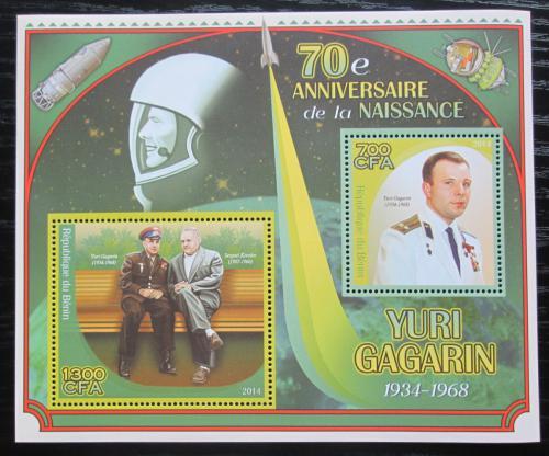 Poštovní známky Benin 2014 Jurij Gagarin Mi# N/N