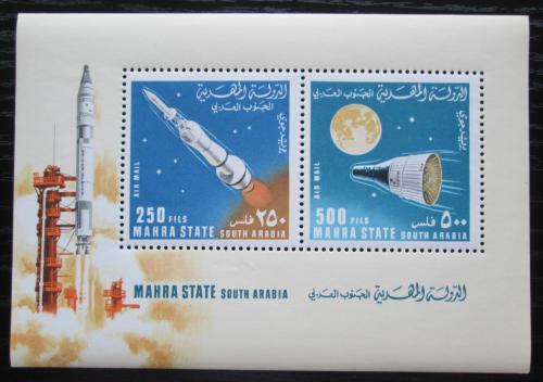 Poštovní známky Aden Mahra 1967 Prùzkum vesmíru Mi# Block 6 A Kat 15€