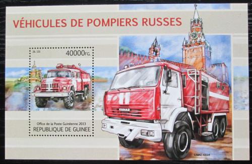 Poštovní známka Guinea 2013 Ruská hasièská auta Mi# Block 2201 Kat 16€