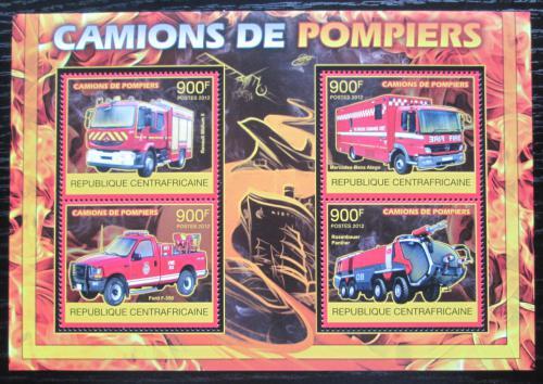 Poštovní známky SAR 2012 Hasièská auta Mi# 3842-45 Kat 16€