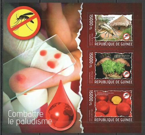 Poštovní známky Guinea 2014 Boj proti malárii Mi# 10299-301 Kat 18€