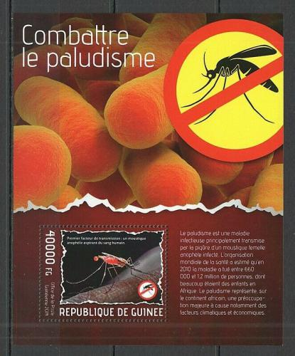 Poštovní známka Guinea 2014 Boj proti malárii Mi# Block 2350 Kat 16€