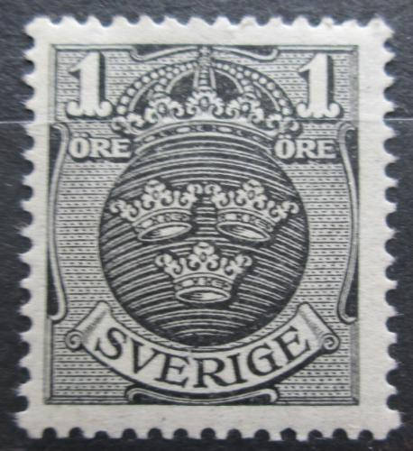 Poštovní známka Švédsko 1912 Státní znak Mi# 64 X