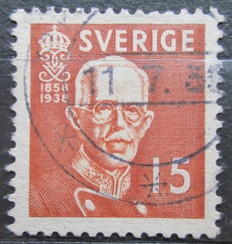 Poštovní známka Švédsko 1938 Král Gustav V. Mi# 251 B