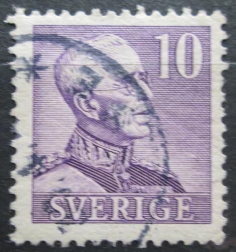 Poštovní známka Švédsko 1939 Král Gustav V. Mi# 256 IIB