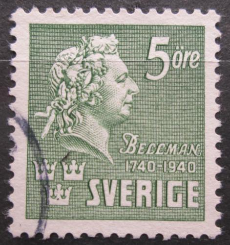 Poštovní známka Švédsko 1940 C. M. Bellman, básník a skladatel Mi# 277 B