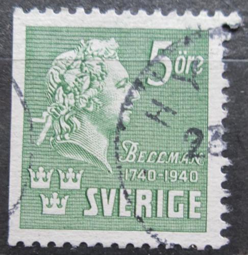 Poštovní známka Švédsko 1940 C. M. Bellman, básník a skladatel Mi# 277 Dl