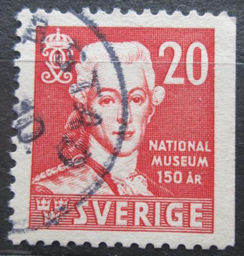Poštovní známka Švédsko 1942 Král Gustav III. Mi# 291 Dr