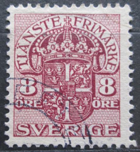 Poštovní známka Švédsko 1910 Státní znak, úøední Mi# 21