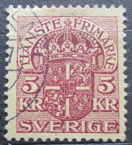 Poštovní známka Švédsko 1911 Státní znak, úøední Mi# 29