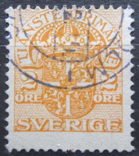 Poštovní známka Švédsko 1913 Státní znak, úøední Mi# 31