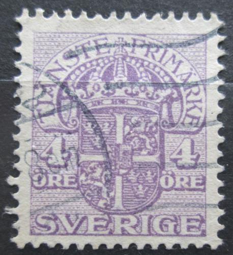Poštovní známka Švédsko 1912 Státní znak, úøední Mi# 33