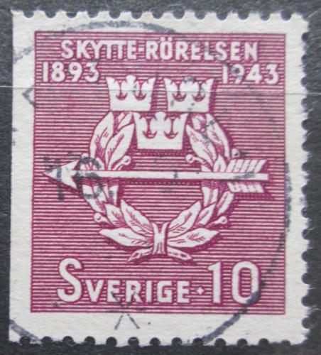 Poštovní známka Švédsko 1943 Švédské èlunkové sdružení, 50. výroèí Mi# 300 Dl