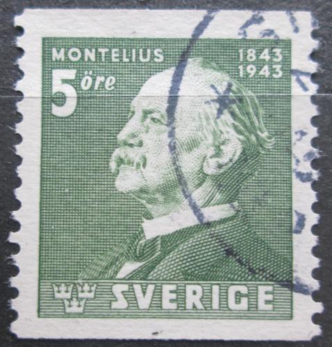 Poštovní známka Švédsko 1943 Oscar Montelius, architekt Mi# 302 A