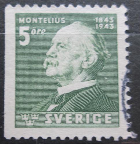 Poštovní známka Švédsko 1943 Oscar Montelius, architekt Mi# 302 Dl