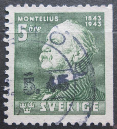 Poštovní známka Švédsko 1943 Oscar Montelius, architekt Mi# 302 Dr